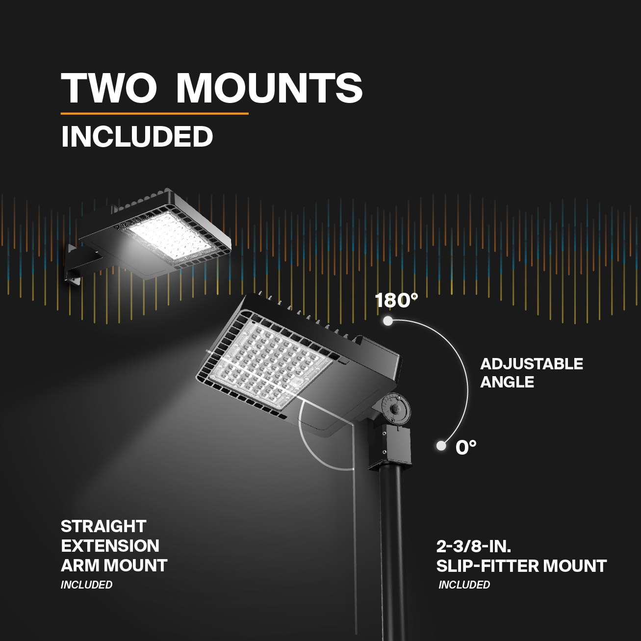 Probrite NOVA150 LED Area Light Mounts included
