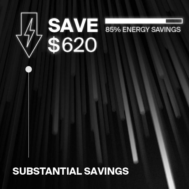 Probrite PowerFlood50 LED Flood Light Energy Savings