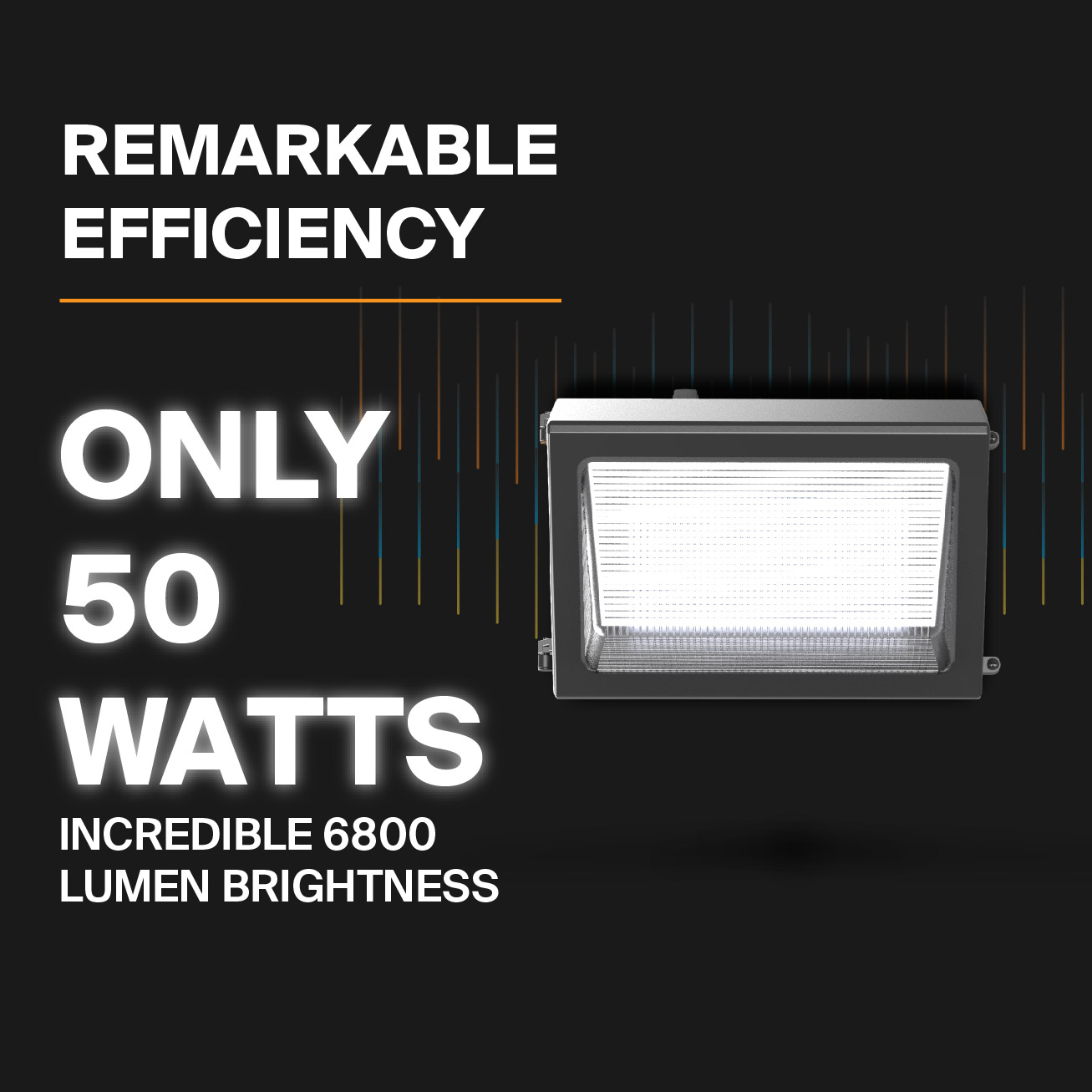Probrite PowerWall50 LED Wall Pack Efficient and Bright