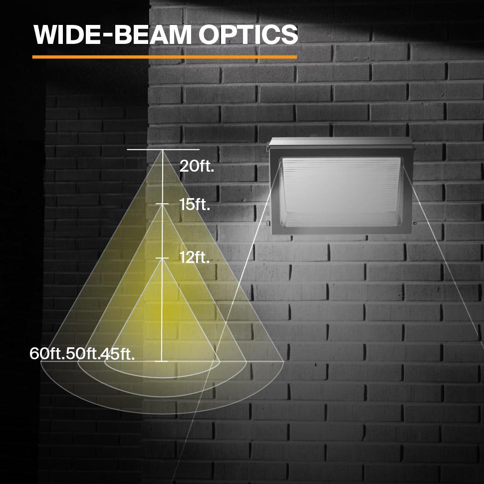 Probrite PowerWall50 LED Wall Pack Wide Beam Optics
