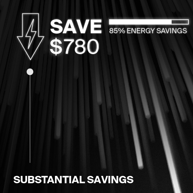 Probrite PowerWall50 LED Wall Pack Energy Savings