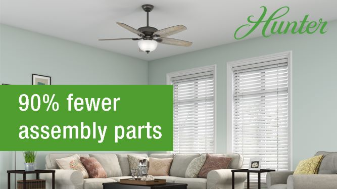 Hunter Channing 54 in  LED Indoor Easy Install Noble Bronze Ceiling Fan  with HunterExpress feature set