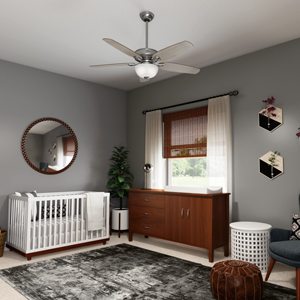 Hunter Channing 54 In Led Indoor Easy Install Brushed Nickel Ceiling Fan With Hunterexpress