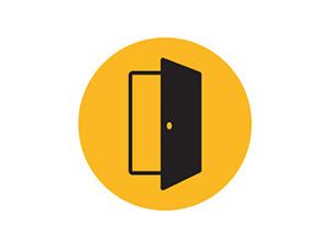 Door opening icon