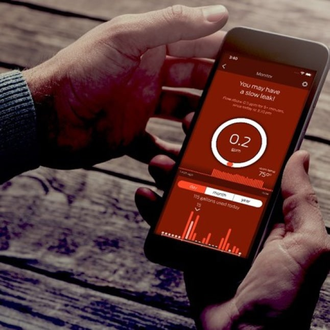 The StreamLabs App can record water usage patterns within a home.