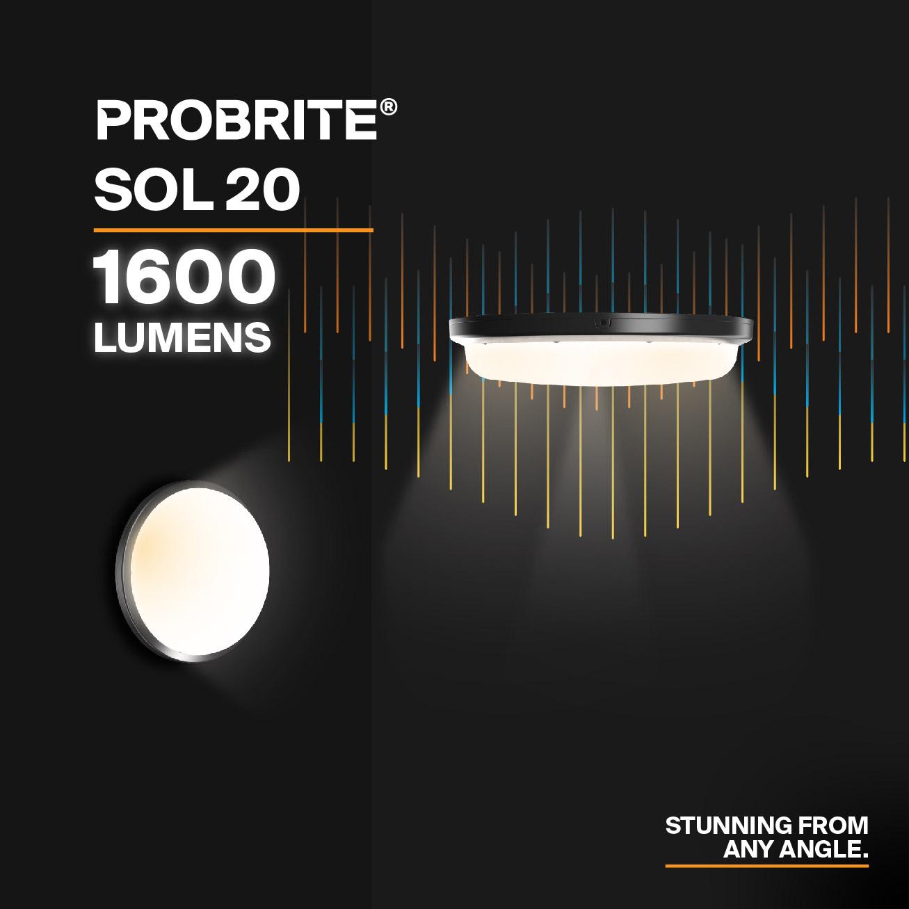 Probrite SOL20 LED Security Light Stunning Design
