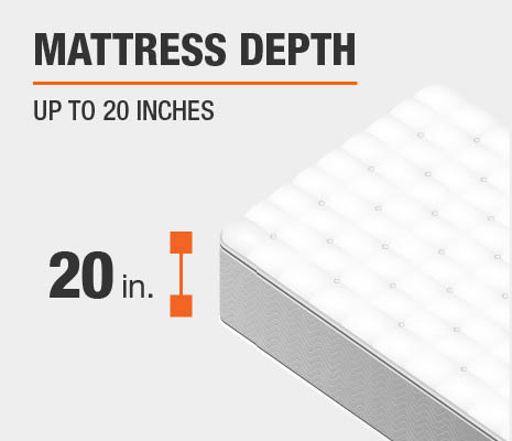 Fitted sheets fits mattress up to 20""