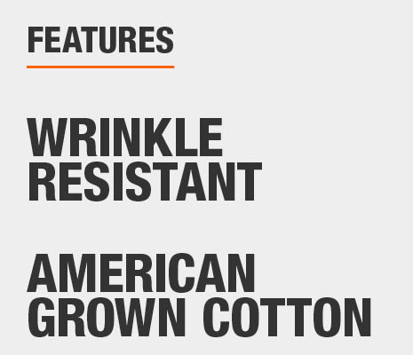 Bed sheets are Wrinkle Resistant and made of American Grown Cotton