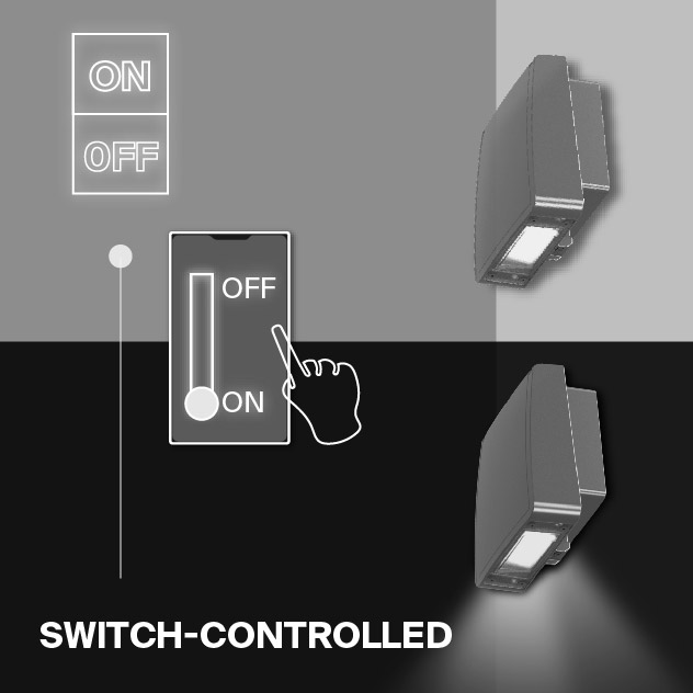 Probrite Stealth15 LED Wall Pack Switch Controlled