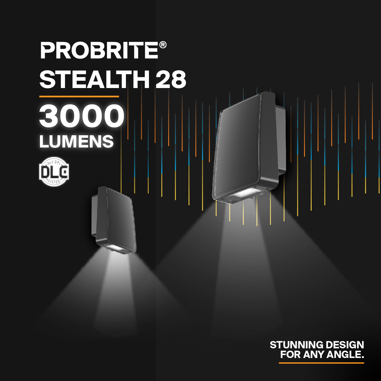 Probrite Stealth28 LED Wall Pack Design and Light