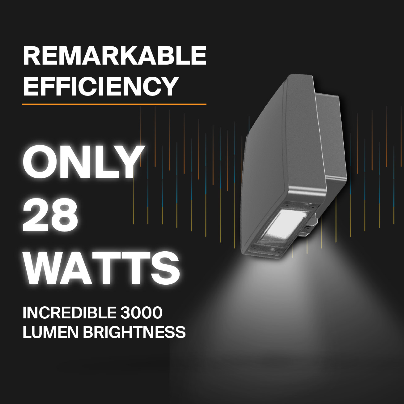 Probrite Stealth28 LED Wall Pack Efficient