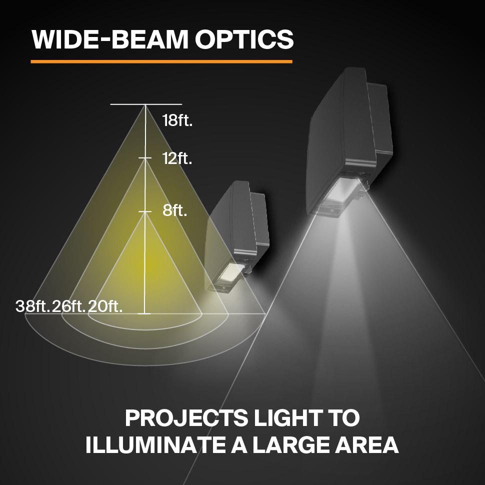 Probrite Stealth28 LED Wall Pack Wide Beam Optics