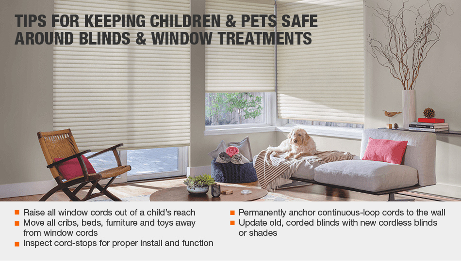 tips for keeping children-and pets safe around blinds and window treatments