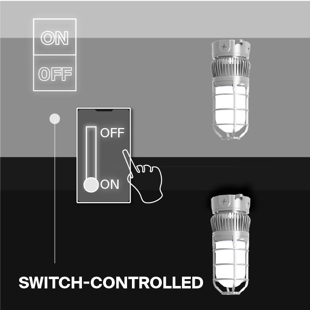 Probrite Vapor14 LED Ceiling Light Switch-Controlled