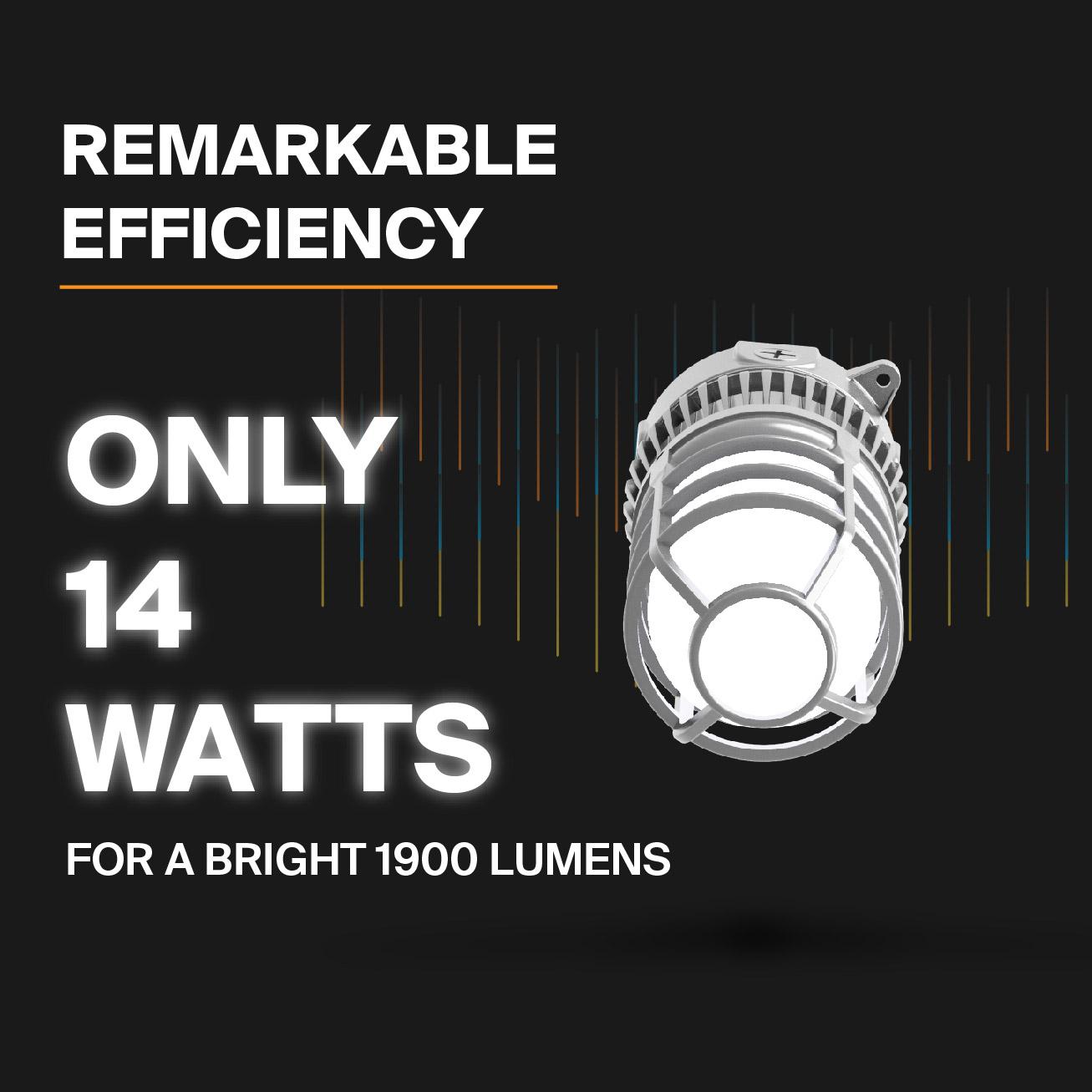 Probrite Vapor14 LED Ceiling Light Efficiency