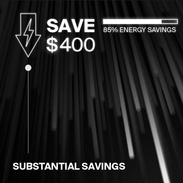 Probrite Vapor14 LED Ceiling Light Energy Savings