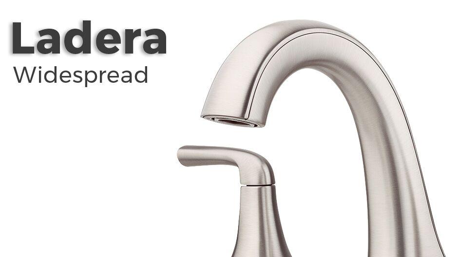 Delta Dryden Polished Nickel 2 Handle Widespread: Pfister Ladera 8 In. Widespread 2-Handle Bathroom Faucet