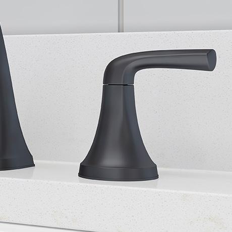 Fixed hub faucet handles