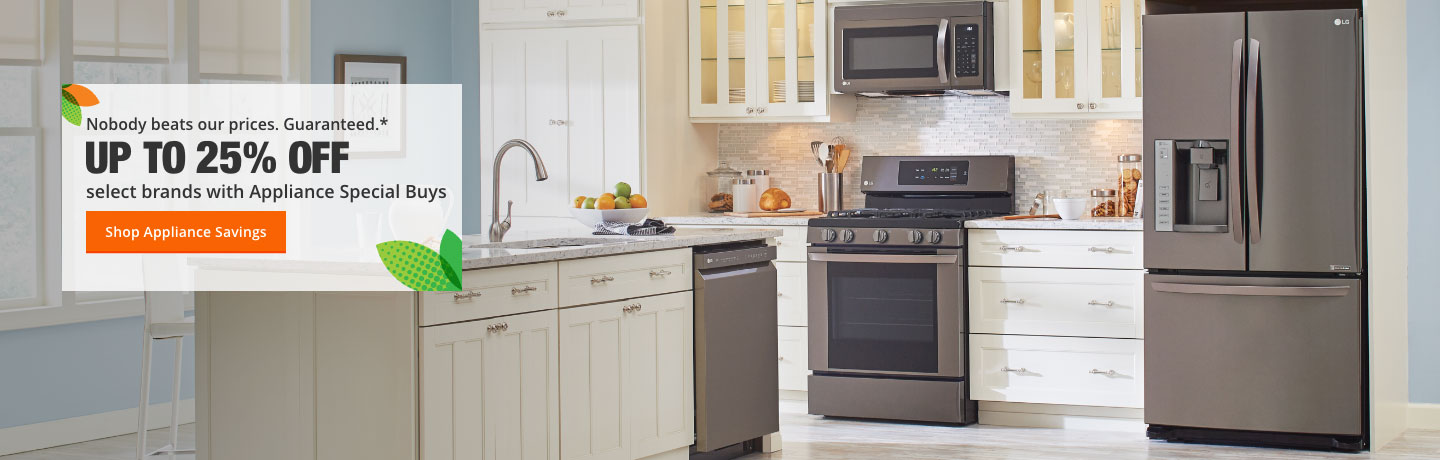 Up To 25% Off With Appliance Special Buys