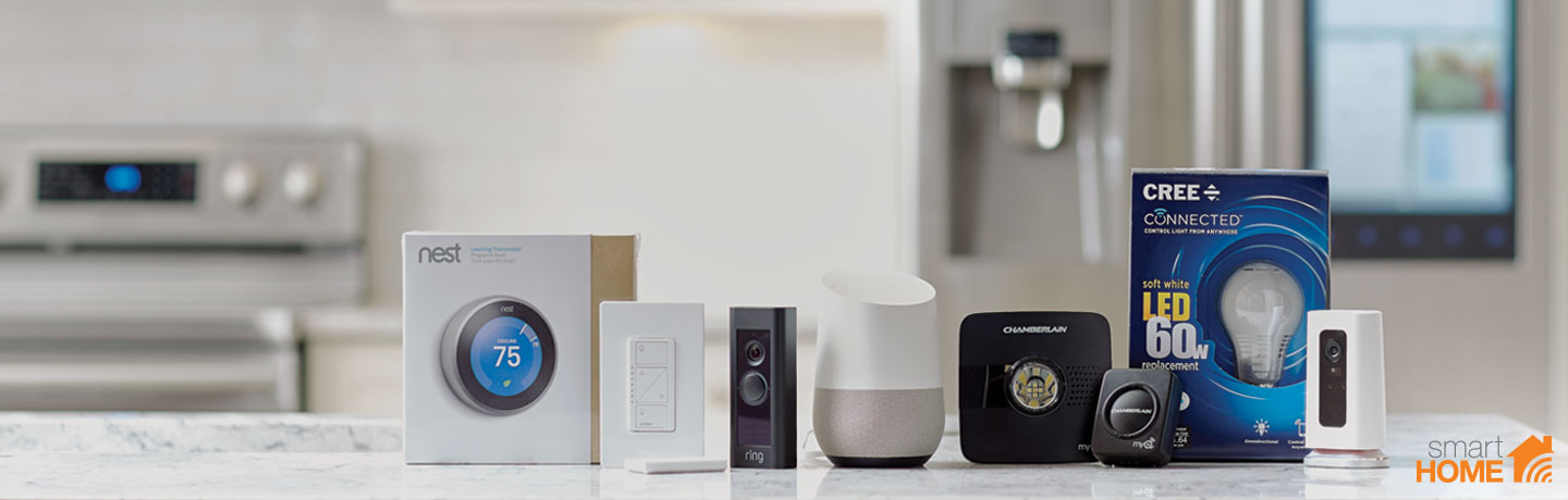 Increase your home's I.Q. Adjust smart devices from Nest®, Ecobee®, Google Home® and more
