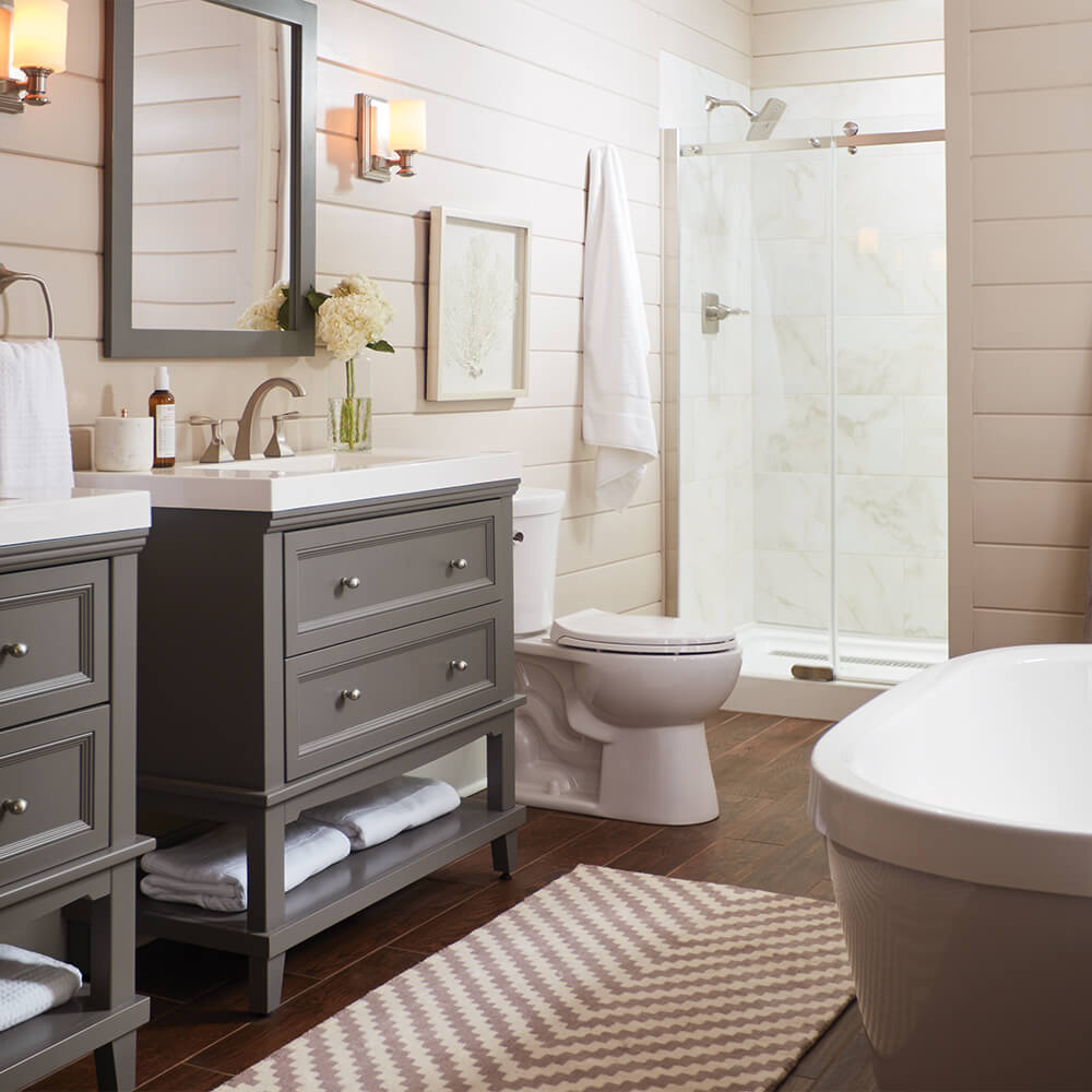 Groovy Cost To Remodel A Bathroom The Home Depot Beutiful Home Inspiration Semekurdistantinfo