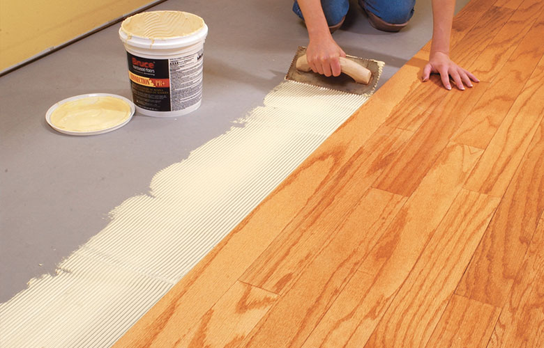 Solid Wood Glue Down Install Cost