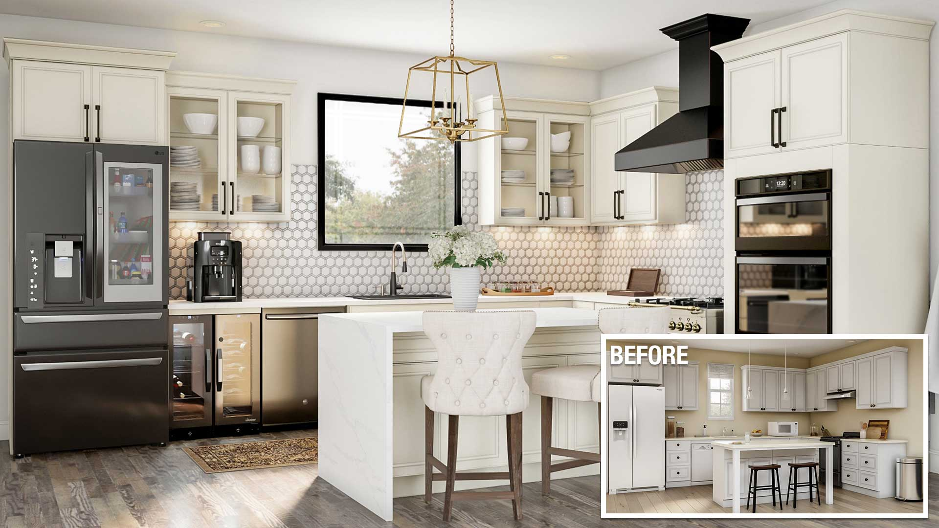 redesign living room on a budget 2018 kitchen remodel costs a before and after of an upscale kitchen remodel