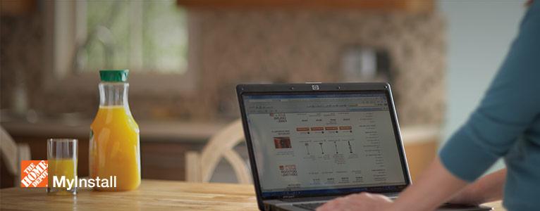 Track your installation status online