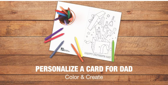 """Personalize a Card for Dad. Color & Create"""""""