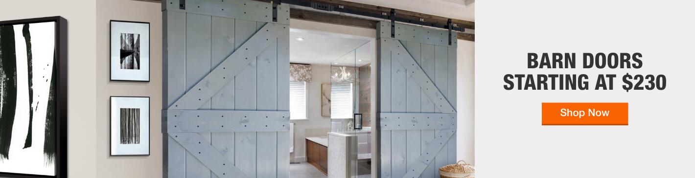 Barn Doors Starting at $230