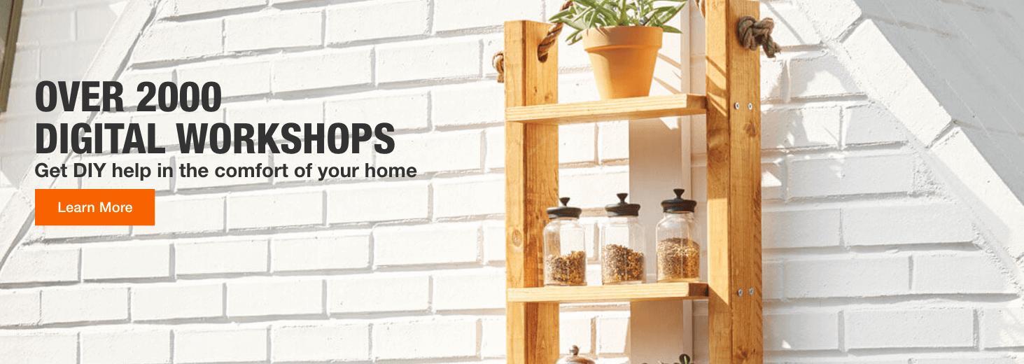 OVER 2000  DIGITAL WORKSHOPS. Get DIY help in the comfort of your home