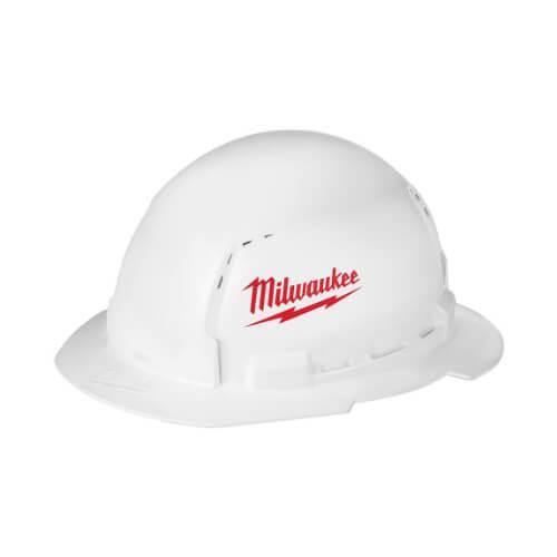 white hardhat helmet