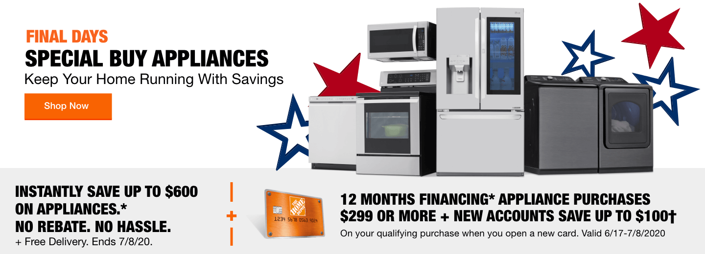 Final Days. Special Buy Appliances. Keep Your Home Running with Savings