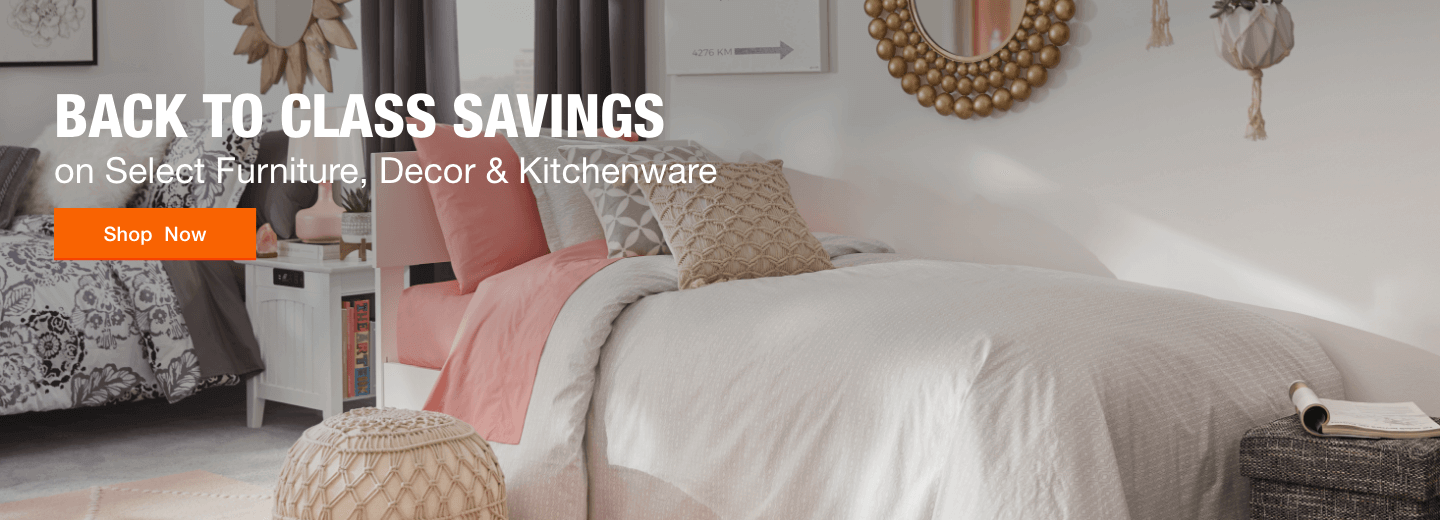 Back to Class Savings on Select Furniture, Decor and Kitchenware