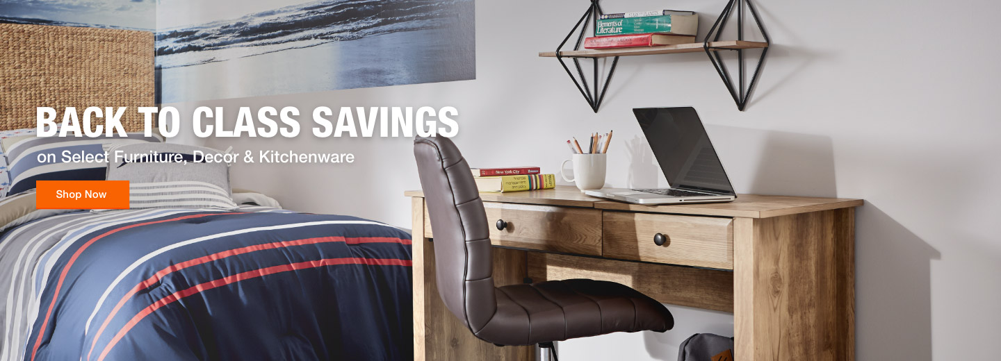 Back To Class Savings. on Select Furniture, Decor & Kitchenware