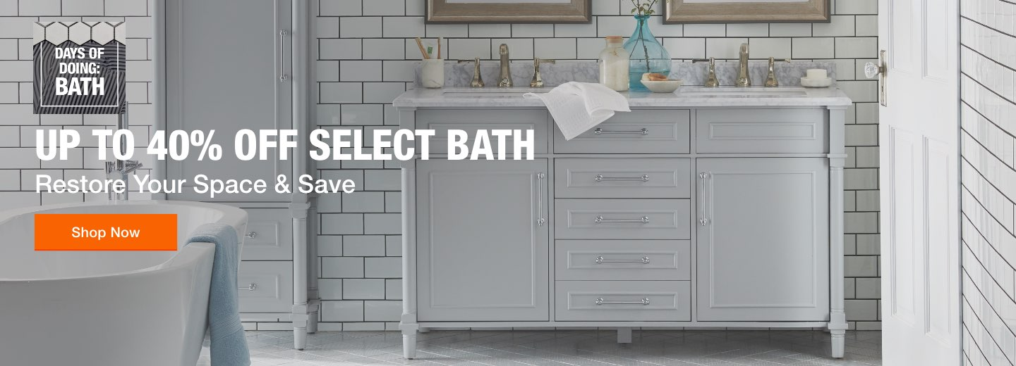 """Up to 40% off Select Bath Restore Your Space & Save Shop Now"""