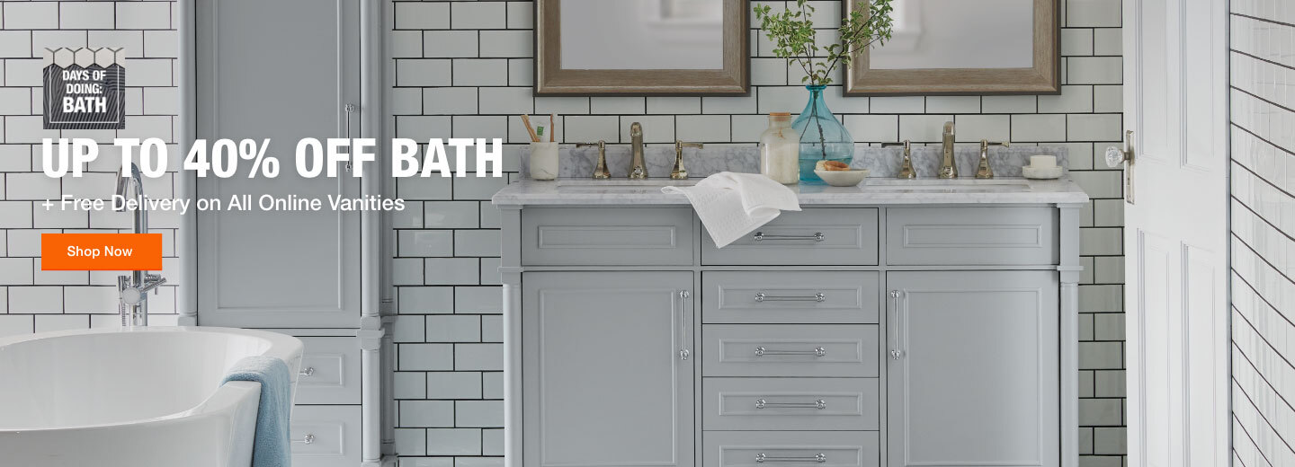 Up to 40% Off Bath + Free Delivery On All Online Vanities