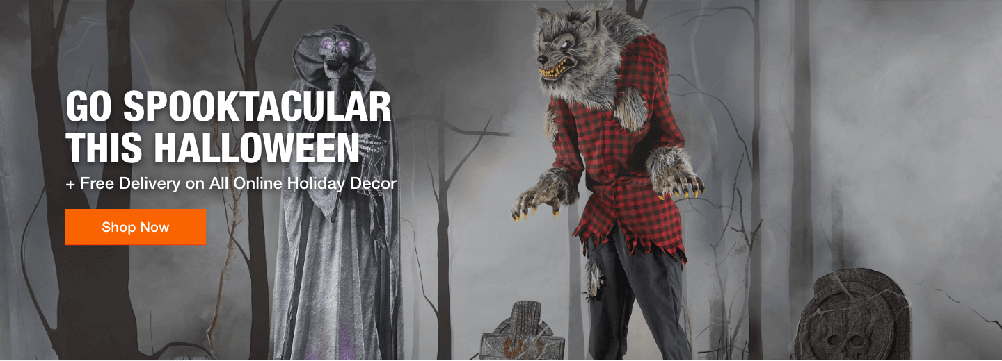 GO SPOOKTACULAR THIS HALLOWEEN + Free Delivery on All Online Holiday Decor