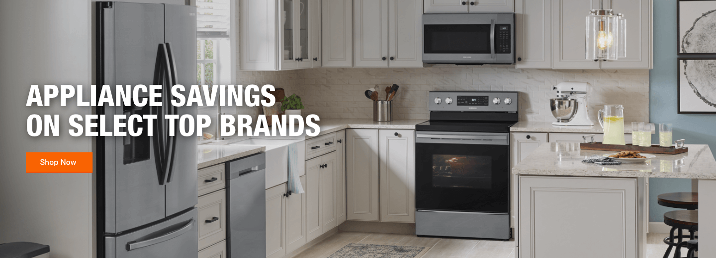 Appliance Savings on Select Top Brands