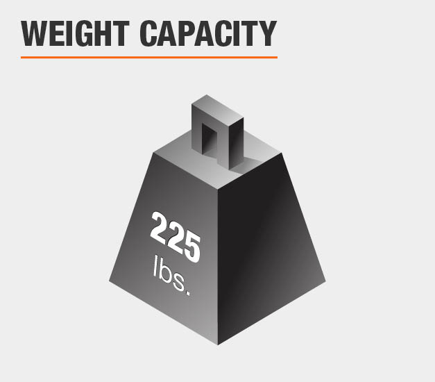Weight Capacity is 225 lbs