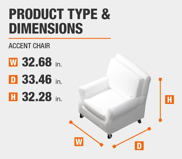 Accent Chair Product Dimensions 32.68 inches wide 32.28 inches high