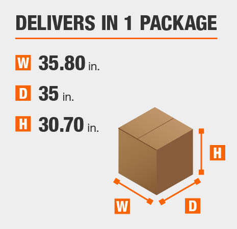 Package Dimensions 35.8 inches wide 30.7 inches high