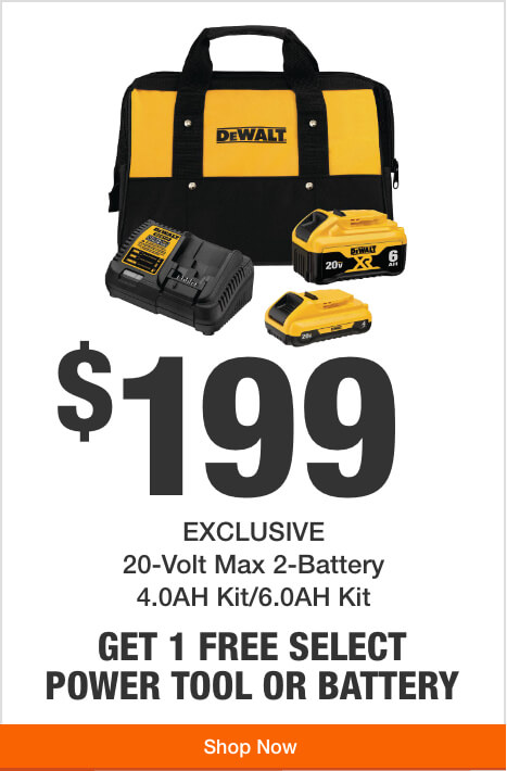 Alt Tex Get 1 Free Tool or Battery with Purchase of this 20V Max Battery Charger Kit  ($199)