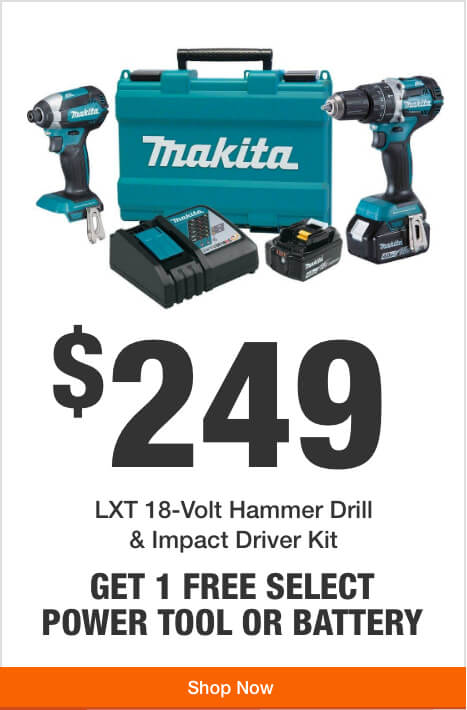 Alt Tex Get 1 Free Tool or Battery with Purchase of this 18V LXT Drill/Impact Driver Kit  ($249) t