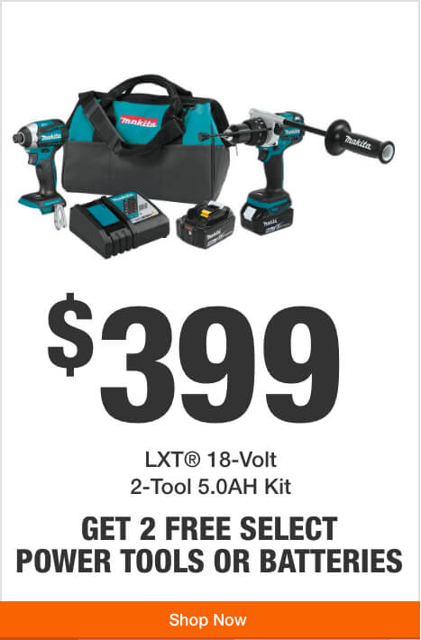 Get 1 Free Tool or Battery with Purchase of this 18V LXT Hammer Drill/Impact Driver Kit  ($399)