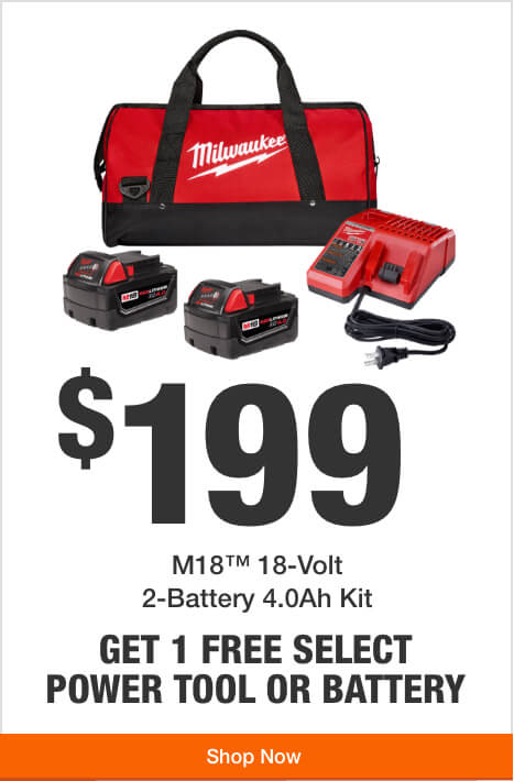 Get 1 Free Tool or Battery with Purchase of this M18 2-Battery Starter Kit ($199)