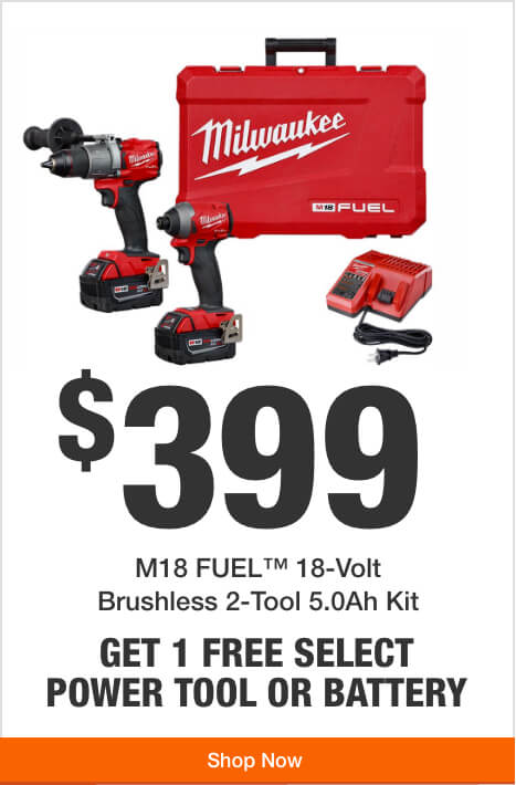 Get 1 Free Tool or Battery with Purchase of this M18 2-Tool Kit ($399)