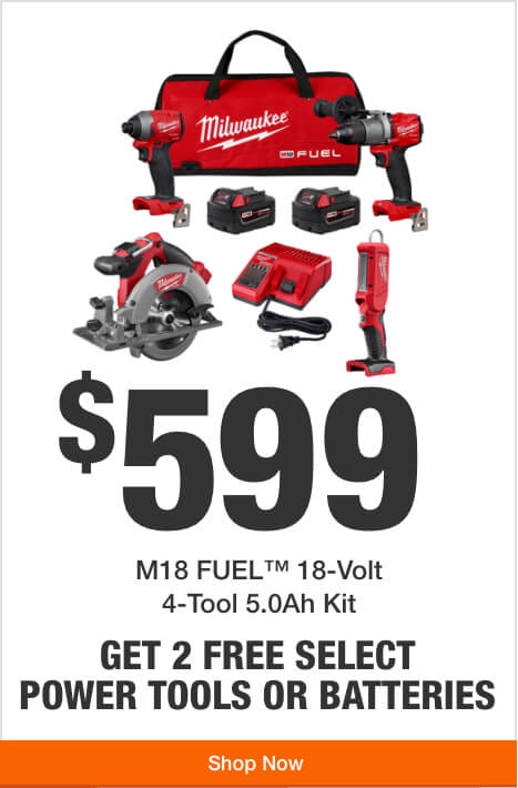 Get 2 Free Tools or Batteries with Purchase of this M18 4-Tool Combo Kit ($599)