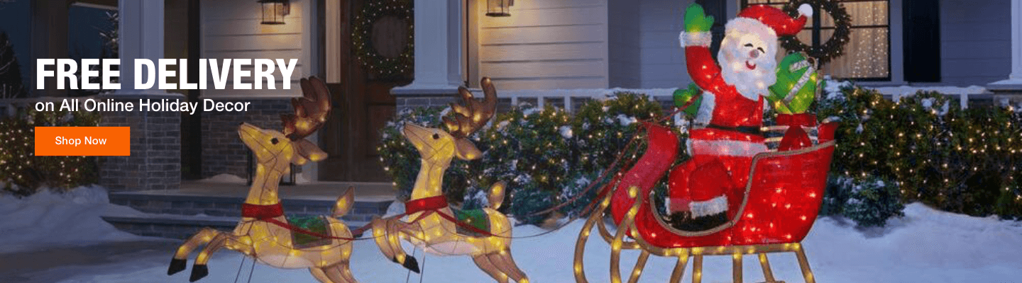 Free Delivery on All Online Holiday Decor