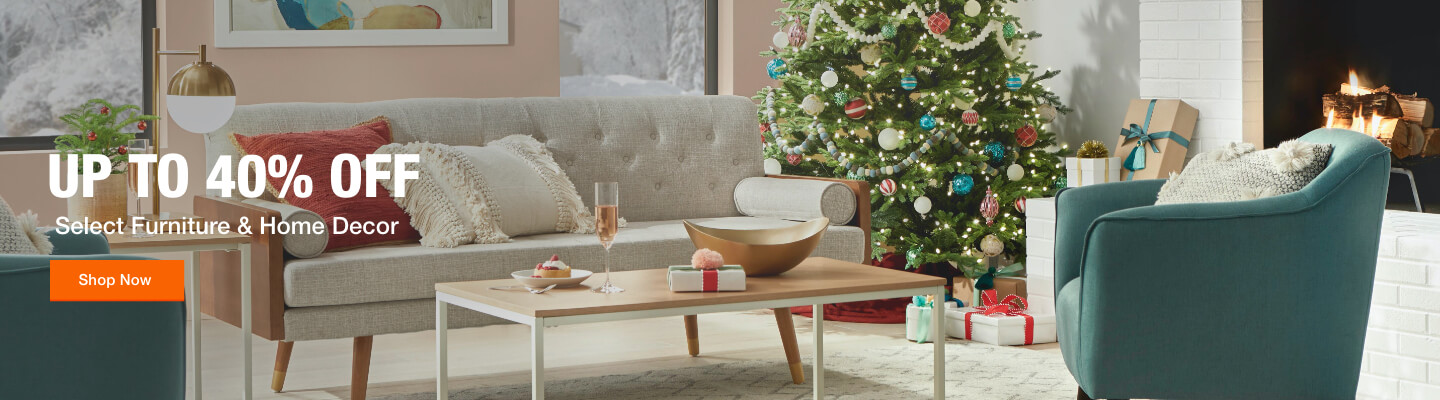 Up to 40% off Select Furniture & Home Decor